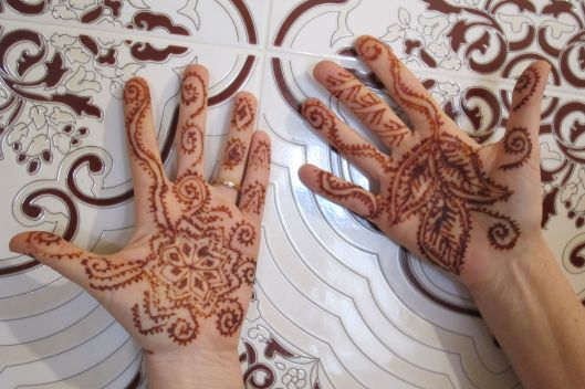 Henna tattoos palms